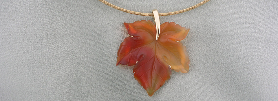 Agate Leaf Necklace